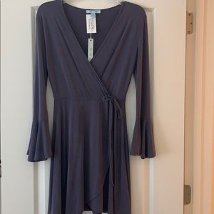 Soft Purple Dress with Belle Sleeves